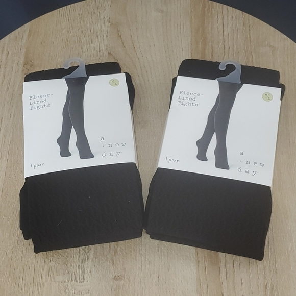 🆕️ Set of 2 Fleece Lined Tights M/L